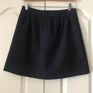 J. Crew Double Crepe A Line Skirt Navy Blue 4 S